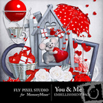 You and Me Embellishment Pack-$2.99 (Fly Pixel Studio)
