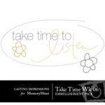 Take Time Wk 06 Embellishment Pack-$0.00 (Lasting Impressions)