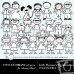 Little Moments Big Memories Stick Figures-$1.20 (Ettes and Company by Fayette)