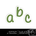 Luck of Green Alpha-$0.99 (Julie Klaus)