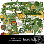 Luck of Green Embellishment Pack-$3.49 (Julie Klaus)