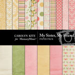 My Sister My Friend Paper Pack-$2.40 (Carolyn Kite)