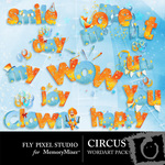 Circus WordArt Pack-$0.99 (Fly Pixel Studio)