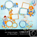 Circus Frame Cluster Pack-$1.49 (Fly Pixel Studio)