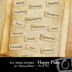 Happy place wordart medium