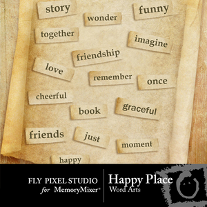 Happy place wordart medium