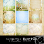 Happy Place Paper Pack-$3.99 (Fly Pixel Studio)
