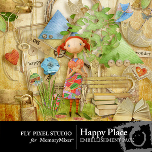 Happy place emb medium