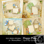 Happy Place QuickPage QuickMix Set 2-$3.49 (Fly Pixel Studio)