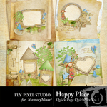 Happy Place QuickPage QuickMix Set 1-$3.49 (Fly Pixel Studio)