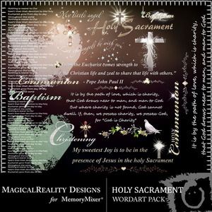 Holy sacrament wordart medium