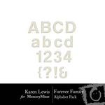 Forever Family Alphabet Pack-$0.99 (Karen Lewis)
