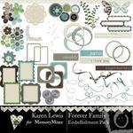 Forever Family Embellishment Pack-$2.99 (Karen Lewis)