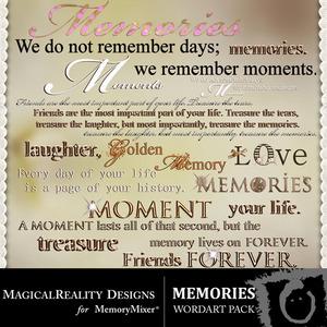Memories wordart medium