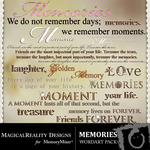 Memories wordart small