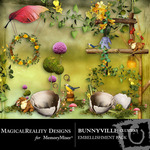 BunnyVille Cluster Embellishment Pack-$1.49 (MagicalReality Designs)