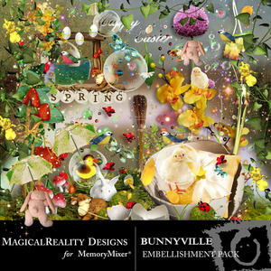 Bunnyville emb medium