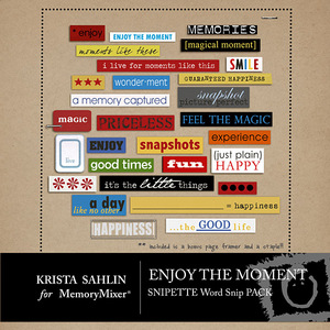 Enjoy the moment wordart medium