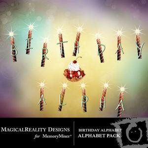 Birthday alpha medium