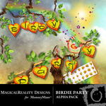 Birdie Party Alphabet Pack-$0.99 (MagicalReality Designs)