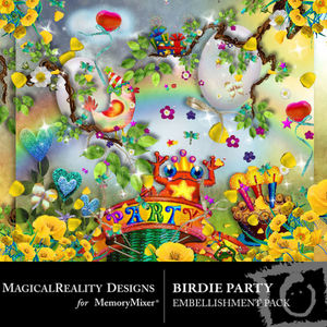 Birdie party emb medium
