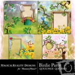 Birdie Party Quick Page QuickMix-$3.49 (MagicalReality Designs)