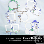 Count The Sheep Frame Cluster Pack-$1.49 (Fly Pixel Studio)