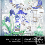 Count The Sheep Embellishment Pack-$2.99 (Fly Pixel Studio)
