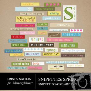 Snipettes spring wordart medium