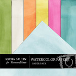 Sunshine and Daffodils Watercolor Paper Pack-$2.49 (Krista Sahlin)