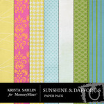 Sunshine and Daffodils Paper Pack-$1.25 (Krista Sahlin)