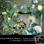 Flying to the Moon PART 1 Cluster Pack-$1.49 (MagicalReality Designs)
