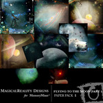 Flying to the Moon PART 1 Paper Pack 1-$3.99 (MagicalReality Designs)
