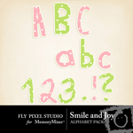 Smile and Joy Alphabet Pack-$0.99 (Fly Pixel Studio)