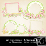 Smile and Joy Frame Cluster Pack-$1.49 (Fly Pixel Studio)