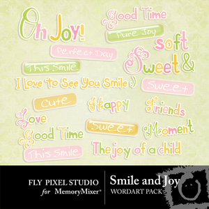 Smile and joy wordart medium