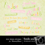 Smile and joy wordart small