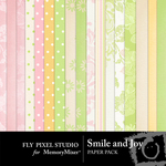 Smile and Joy Paper Pack-$3.99 (Fly Pixel Studio)