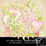 Smile and Joy Embellishment Pack-$2.99 (Fly Pixel Studio)