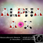 House of Cards Alphabet Pack-$0.99 (MagicalReality Designs)