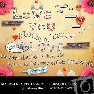 House of cards wordart medium