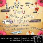 House of Cards WordArt Pack-$1.49 (MagicalReality Designs)