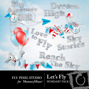 Lets fly wordart medium