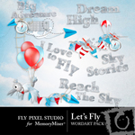 Lets Fly WordArt-$1.49 (Fly Pixel Studio)