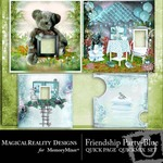 Friendship Party Quick Page QuickMix Blue-$3.49 (MagicalReality Designs)
