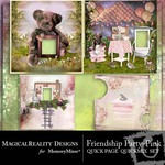 Friendship Party Quick Page QuickMix Pink-$3.49 (MagicalReality Designs)