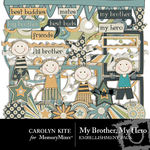 My Brother My Hero Embellishment Pack-$1.80 (Carolyn Kite)