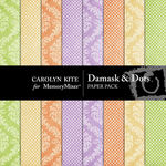 Damask And Dots Paper Pack-$2.99 (Carolyn Kite)