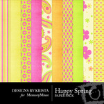 Happy Spring Paper Pack-$3.99 (Designs by Krista)