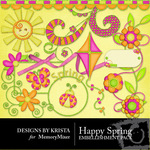Happy Spring Embellishment Pack-$2.99 (Designs by Krista)